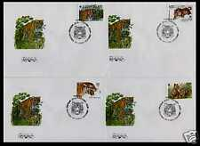 1993. Russia. Fauna. Wwf. The Ussuri Tiger. 4 Fdcs
