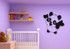 Wall Stickers Vinyl Decal Panda Cute Animal for Kids Room Cool Decor (ig311)