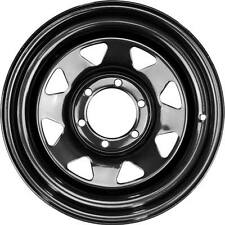 17x8 6x114.3 +18 offset Black Sunraysia steel wheels rims 4x4 4wd
