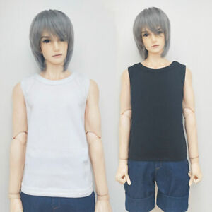 1/6 1/4 1/3 BJD Leather Jacket Black White Vest Top for SD Ball Jointed Boy Doll