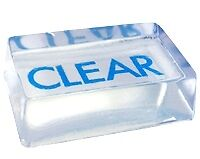 24 LB block MP Clear Glycerin Soap Base - Basic