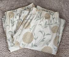 "Laura Ashley Floral Curtains Erin Eau De Nil Lined Pair W84"" X L82"" Each"