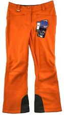Salomon Women's Orange Soft Shell Snowtrip Clima Pro Water Wind Pants 12 L