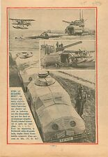 Submarine Royal Navy Seaplane Hydravion Catapulte/Reichswehr Panzer Tanks 1931