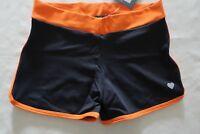 "Sport Shorts ~ Ladies Size XS ~ Orange Trim ~ New ~ MBC DEVOTION 9/"" Tights"
