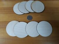 8x 75mm/7.5cm Wooden CIRCLE Craft Shapes Wood DIY Decoration Disc Plaque