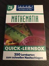 Mathematik Quicklernbox Schülerhilfe