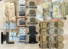 Vintage Cabinet Hinges, Mixed Lot, NOS & Used With Misc Hardware