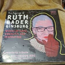 New Sourcebooks 2021 The Legacy of Ruth Bader Ginsburg Wall Calender