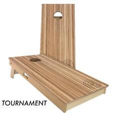Slick Woody's Zebra Wood Cornhole Board Game Set - High Quality Made in USA!!