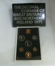 More details for 1971 uk 7 coin proof year set with original royal mint cover, for gb and ni