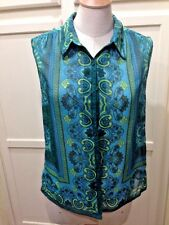 Urban Outfitters Staring at Stars Paisley Top in greens Woman's Size M Aztec