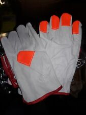 """MOVE OUT SALE"" Soft Pigskin-Hi-Vis Finger Tip Leather Drivers Gloves 1 Pair"