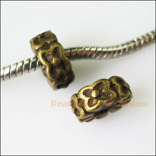 2Pcs Antiqued Bronze Butterfly Beads Rubber Stopper fit European Charm Bracelets