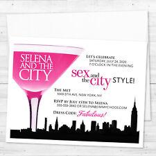 8 Sex and the City Invitations Bachelorette Birthday Shower Custom Diva Invites