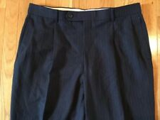 Nautica Men's Size 36 Short Navy Blue Pinstripe Pleated Front Dress Work Pants
