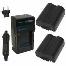 Wasabi Power Battery (2-Pack) and Charger for Panasonic CGR-S006, CGA-S006,