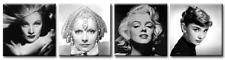 TIME4BILD Marilyn Monroe Dietrich Garbo Audrey Hepburn BILD LEINWAND 4 x 40x40cm