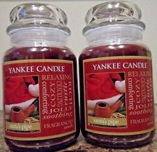 Yankee Candle: Santa's Pipe  22 oz  NEW Lot of 2. 1st Quality Free Ship. Tobacco