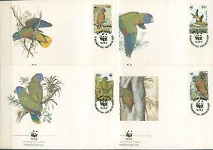 St. Lucia 1987 WWF Blaumaskenamazone 909/12 FDC (X30671)