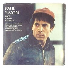 Paul Simon Late In The Evening How The Heart Approaches 45rpm & Picture Sleeve