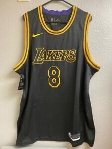 XXL Kobe Bryant Jersey Black Mamba Day City Edition Los Angeles Lakers NBA 2XL