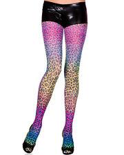 FUNKY sexy MUSIC LEGS animal LEOPARD print RAINBOW tights PANTYHOSE stockings