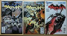 BATMAN NEW 52 #1-3 LOT SIGNED GREG CAPULLO & SCOTT SNYDER W/ COA UNREAD