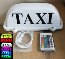 Taxi Cab Sign Car Driver Roof Top Light Battery Rechargeable 7 Color Change LED