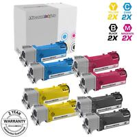 Toner for Xerox Phaser 6500 6500N Black Cyan Magenta Yellow 8pk Set 106R01597