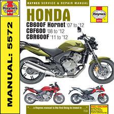 Haynes Manual Honda CB600 Hornet CBF600 & CBR600F 2007-2012 NEW 5572