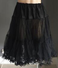 Pin-up Rockabilly CYBERSHOP Black Tulle Petticoat Size XS - M (8-12)