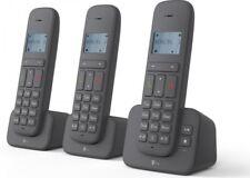 Telekom Sinus CA 37 Trio Telefon Schnurlostelefon 3 Mobilteile kabellos, Grau