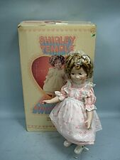 """Ideal 16"""" Porcelain Shirley Temple Doll MIB - 1983 - Ltd Ed. #83 With Certificat"""