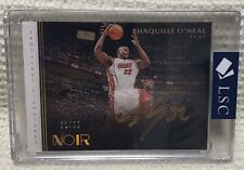 Shaquille O'Neal SSP /99 2019-20 Panini Noir Encased Gold On-Card Auto - Heat
