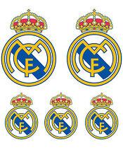 5 Adesivi Sticker Real Madrid Calcio logo