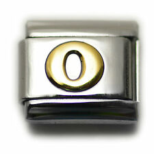 """Italian Charm Bracelet Alphabet Letter Link - LETTER """"O"""""""