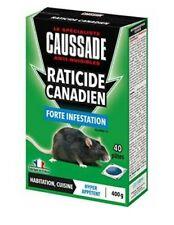 LOT 40 SACHETS PATE RATICIDE CANADIEN efficacité radicale sur RATS CAUSSADE