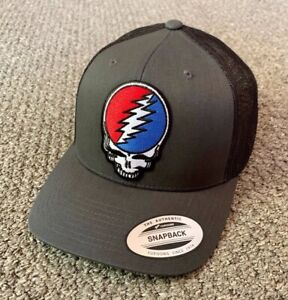 Grateful Dead Hat Steal Your Face SnapBack Trucker Mesh Handcrafted in the USA!