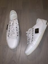 Dolce and Gabbana D&G men plaque trainers sneakers shoes100% authentic rare