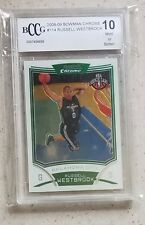 Russell Westbrook 2008 09 Bowman chrome #114 thunder RC rookie BCCG 10 BGS PSA?