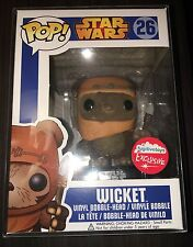 Funko POP! Star Wars Flocked Wicket #26 - Fugitive Toys Exclusive