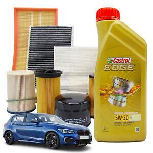 KIT TAGLIANDO BMW SERIE 1 116D F20/F21 85KW 116CV DAL 12/2011 + CASTROL LL 5W30
