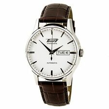 Tissot Visodate White Dial Automatic Leather Strap Men's Watch T0194301603101