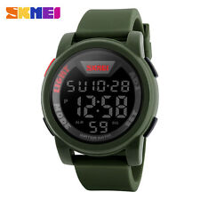 SHOCK Men Mens Military Wristwatch Stainless Steel Waterproof Watch
