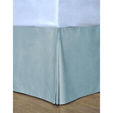 Nib Cotton Loft Smoke Blue King Bedskirt