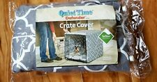 "MidWest Quiet Time Defender Crate Cover Brown & White Design 30""L X 19""W X 21""H"