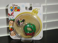 DISNEY TSUM TSUM 2016 CHRISTMAS MINNIE WITH STACKABLE HOLIDAY ACCESSORY