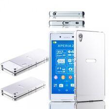 ALU parachoques 2 pzas. cubierta de plata para Sony Xperia z3 plus e6553 dual bolso