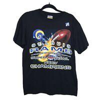 St. Louis Rams shirt Super Bowl XXXIV tee sz. Medium NEW deadstock Vintage mint